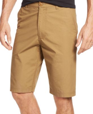 Image of American Rag Men's Solid Slim-Fit Poplin Chino Shorts