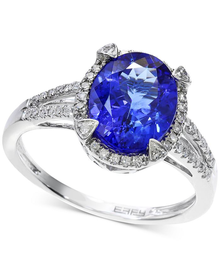 EFFY Collection - Tanzanite (2-5/8 ct. t.w.) and Diamond (1/4 ct. t.w.) Ring in 14k White Gold