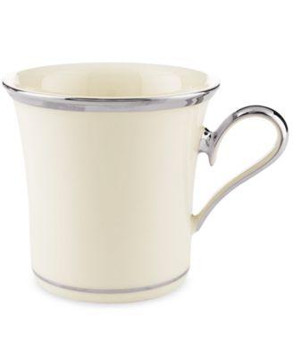 "Lenox ""Solitaire"" Mug, 11 oz."