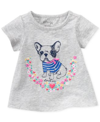 First Impressions Baby Girls' Bulldog Tee