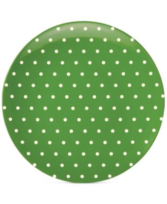 "kate spade new york ""Salut!"" Dots Green Melamine Salad Plate"