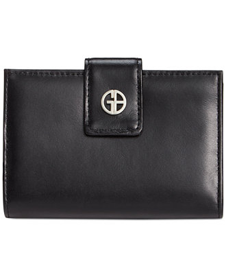 Giani Bernini Florentine Glazed Leather Frame Indexer Wallet