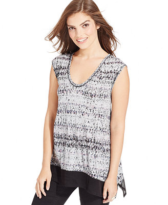 DKNY Jeans Sleeveless Printed Tank Top