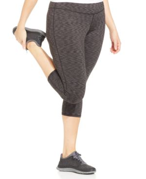 Ideology Plus Size Space-Dyed Capri Active Leggings