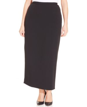 Kasper Plus Size Straight-Fit Midi Skirt