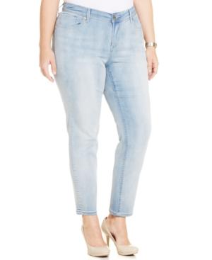 Seven7 Jeans Plus Size Skinny Jeans, Silver Fox Wash