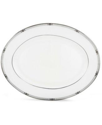 "Lenox Westerly Platinum 13"" Oval Platter"