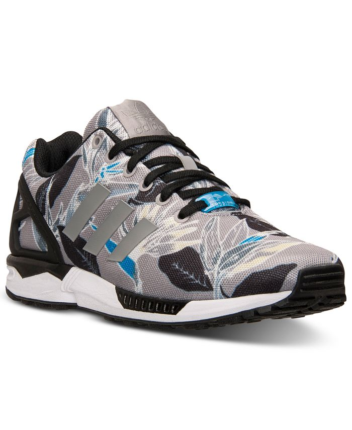 adidas - Men's ZX Flux Floral Print Casual Sneakers from Finish Line