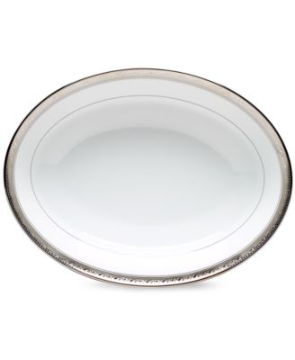 Noritake Dinnerware, Crestwood Platinum Oval Vegetable Dish