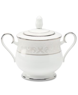 "Noritake ""Montvale Platinum"" Covered Sugar Bowl"