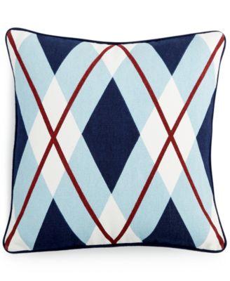 "Tommy Hilfiger Buckaroo Oversized Argyle 18"" Square Decorative Pillow"