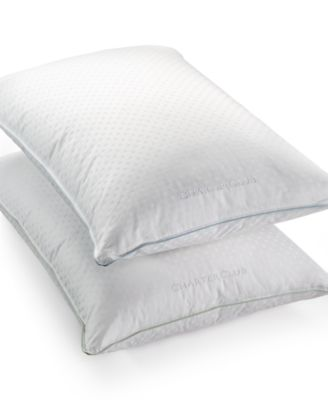Charter Club Vail 50% European Feather & 50% European Down Medium/Firm Density Standard/Queen Pillow, Hypoallergenic UltraClean Down, Only at Macy's