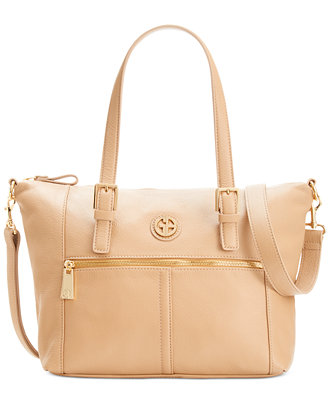 Giani Bernini Pebble Leather Zipper Soft Satchel