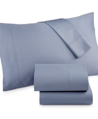 Charter Club Damask Diamond Printed 500 Thread Count Pima Cotton Queen Sheet Set, Only at Macy's®
