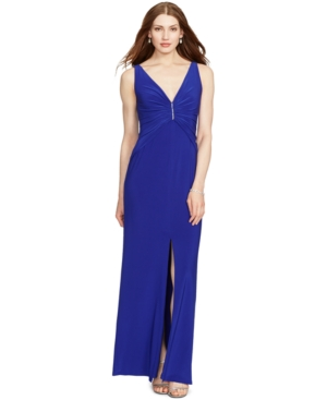 9f84317dd5fae ... UPC 889041740256 product image for Lauren Ralph Lauren Ruched  Sleeveless Gown