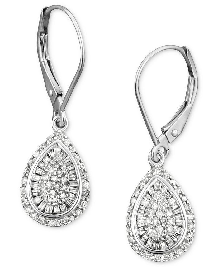 Wrapped in Love - Diamond Teardrop Earrings in 14k White Gold (1/2 ct. t.w.)