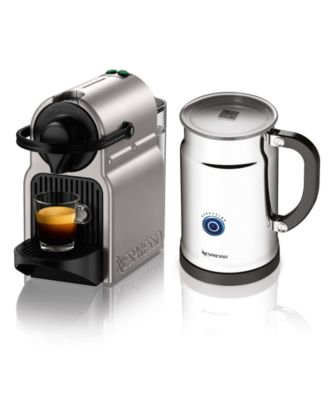 Nespresso Inissia Bundle Espresso Maker, Silver