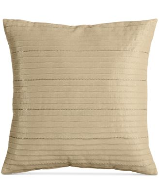 "INC International Concepts Prosecco Sequin Wave 18"" Square Decorative Pillow"