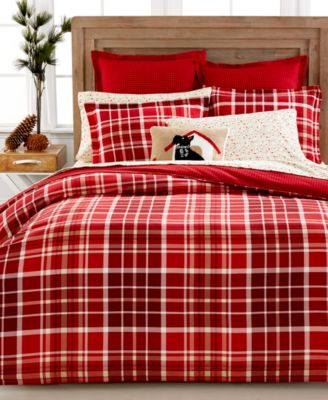 CLOSEOUT! Martha Stewart Collection Winter Tartan European Sham