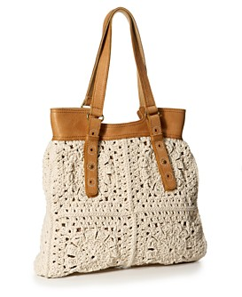 "Macy*s - Handbags - Lucky Brand Jeans ""Floral Macrame"" Tote from macys.com"