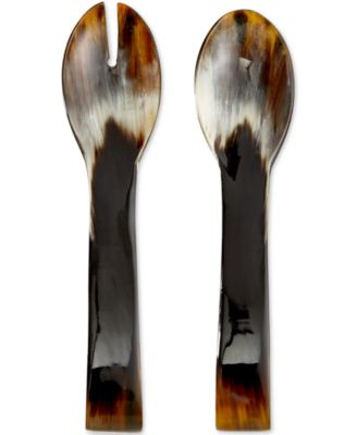 Heart of Haiti All-Horn Salad Servers