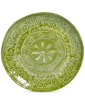 Maison Versailles Castleware Melamine Round Green Salad Plate