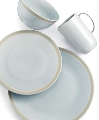 Vera Wang Wedgwood Dinnerware, Gradients Mist Porcelain 4-Pc. Place Setting