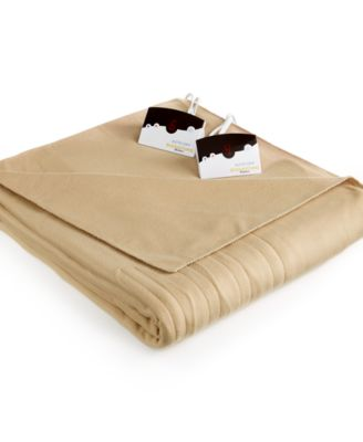 CLOSEOUT! Biddeford Comfort Knit Fleece Heated Twin Blanket