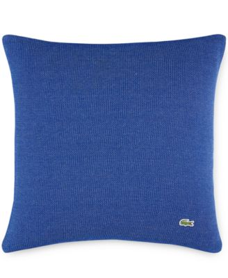 "Lacoste Auckland Blue Caviar Knit 18"" Square Decorative Pillow"