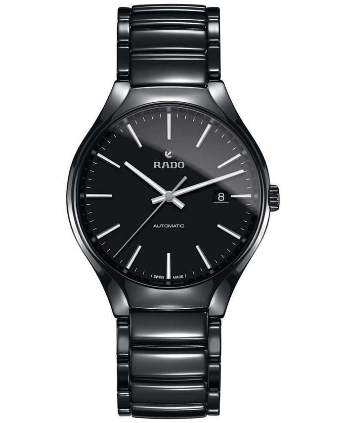 Rado - Men's Swiss Automatic True Black High-Tech Ceramic Bracelet Watch 40mm R27056152