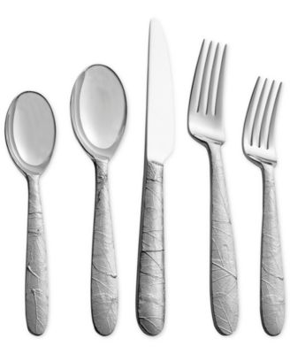 Michael Aram Stainless Steel Forest Leaf Collection 5-Pc. Flatware Set