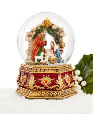 Holiday Lane Nativity Musical Snow Globe, Only at Macy's