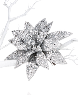 Holiday Lane Sequin Poinsettia Clip-On Tree Ornament, Only at Macy's