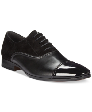 Bar Iii Men's Gabriel Mixed Patent Cap Toe Oxfords, Only at Macy's Men's Shoes