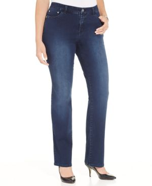 Style & Co. Plus Size Embellished Straight-Leg Jeans