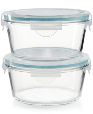 Martha Stewart Collection 4-Pc. Glass Food Storage Container Set, Only at Macy's