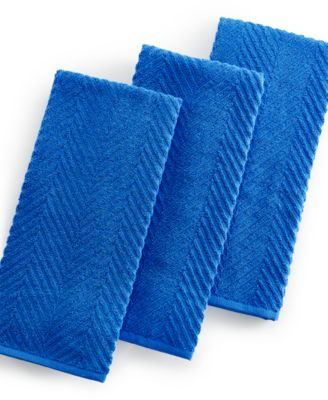 Martha Stewart Collection 3-Pc. Cobalt Textured Terry Towel Set, Only at Macy's