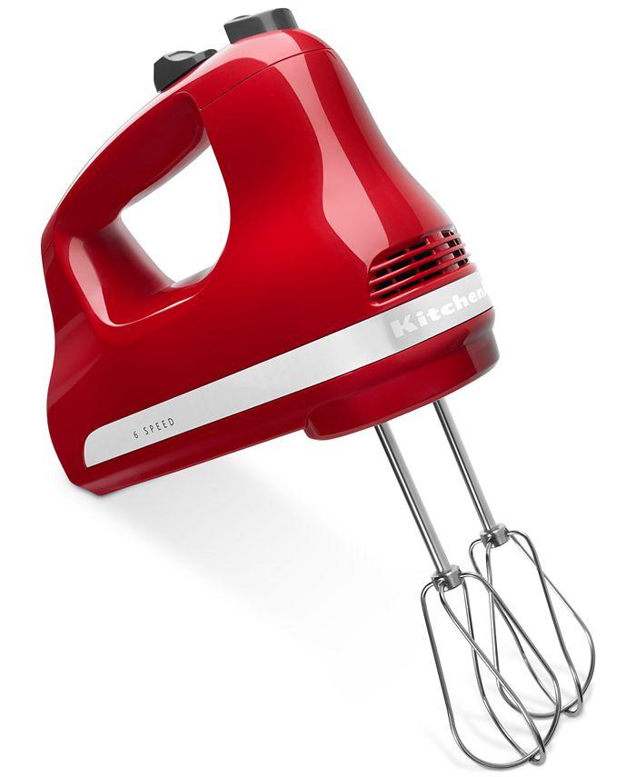 KitchenAid - KHM614ER 6-Speed Hand Mixer