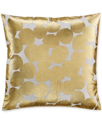 "kate spade new york Gold Random Dot 18"" Square Decorative Pillow"