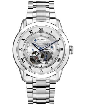 Bulova Men's Automatic Bva-Series Stainless Steel Bracelet Watch 42mm 96A118