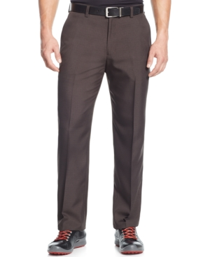 Greg Norman for Tasso Elba Houndstooth Plaid Performance Pants $39.98 AT vintagedancer.com