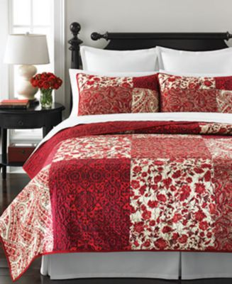 Martha Stewart Collection Paisley Blocks Full/Queen Quilt