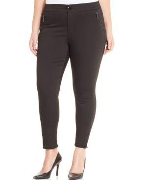 Melissa McCarthy Seven7 Ankle-Zip Skinny Jeans