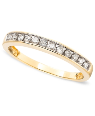 14k Gold Diamond Band Ring (1/4 ct. t.w.)