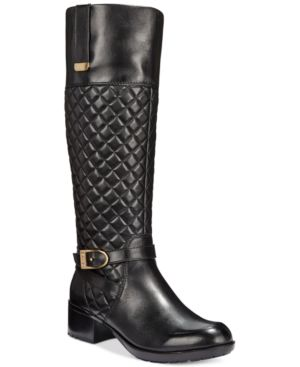 Bandolino Blushe Quilted Wide Calf Riding Boots
