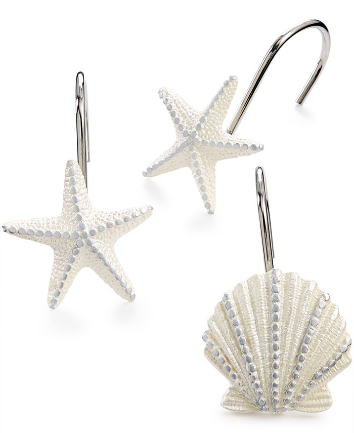 Avanti - Sequin Shells Shower Curtain Hooks
