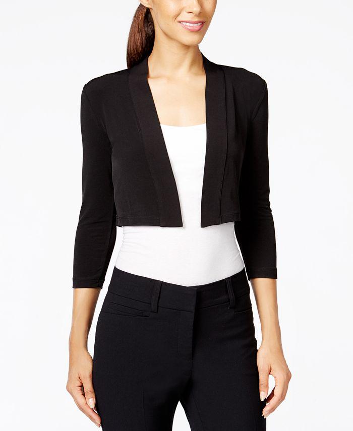 Calvin Klein - Three-Quarter Sleeve Bolero Cardigan