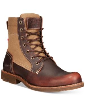 Levi's Lex Tall Canvas Boots Men's Shoes