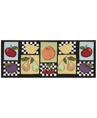 "Nourison Fruit 22"" x 56"" Kitchen Rug"