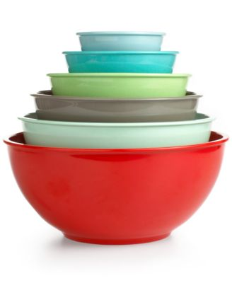 Martha Stewart Collection Mixing Bowls, Set of 6 Melamine